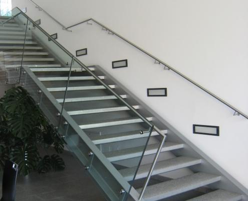 Geländer Edelstahl mit Glas