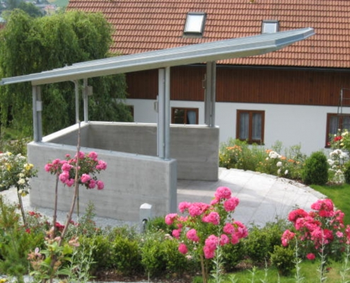 Pavillon verzinkt mit Dach aus 3-Schichtplatten