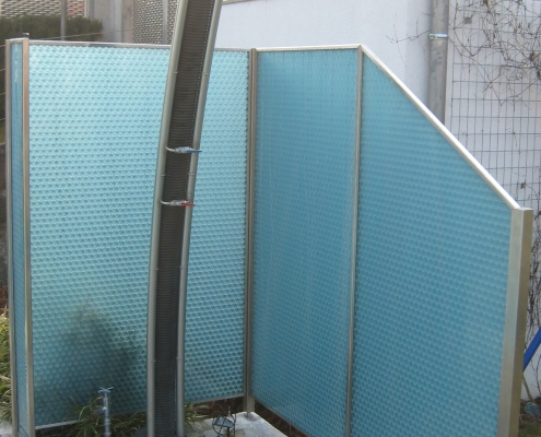 Sichtschutz für Gartendusche