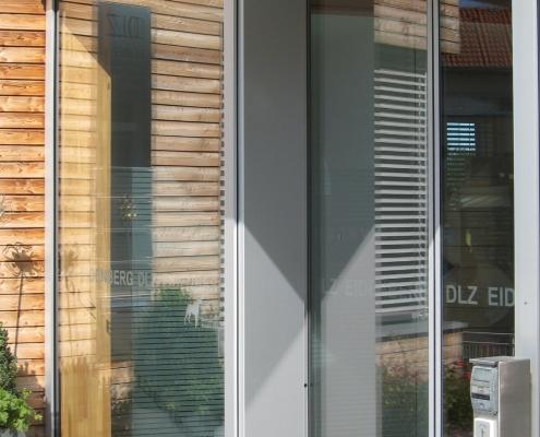 Vordach Eingang Edelstahl