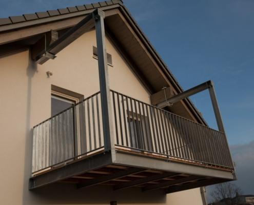 Balkonkonstruktion Stahl verzinkt
